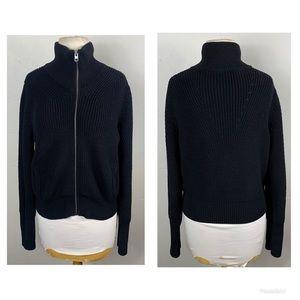 Athleta Swissvale Bomber Sweater,black